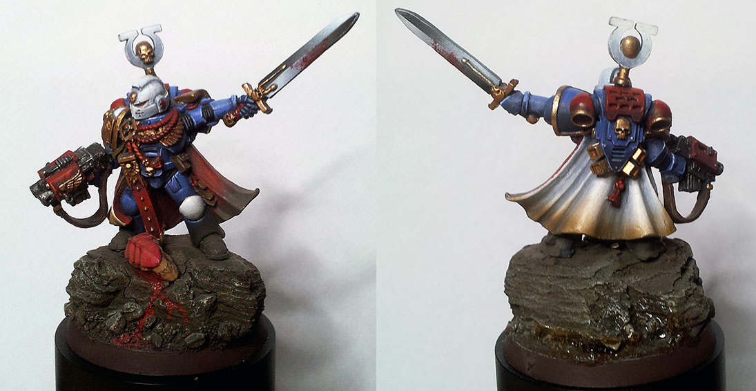 Space Marines Ultramarines Custom Captain [auction]