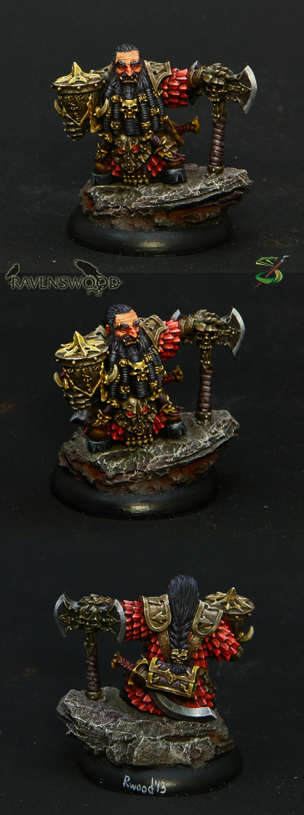 Bezhukk the Immortal, a dwarf mercenary (box-art)