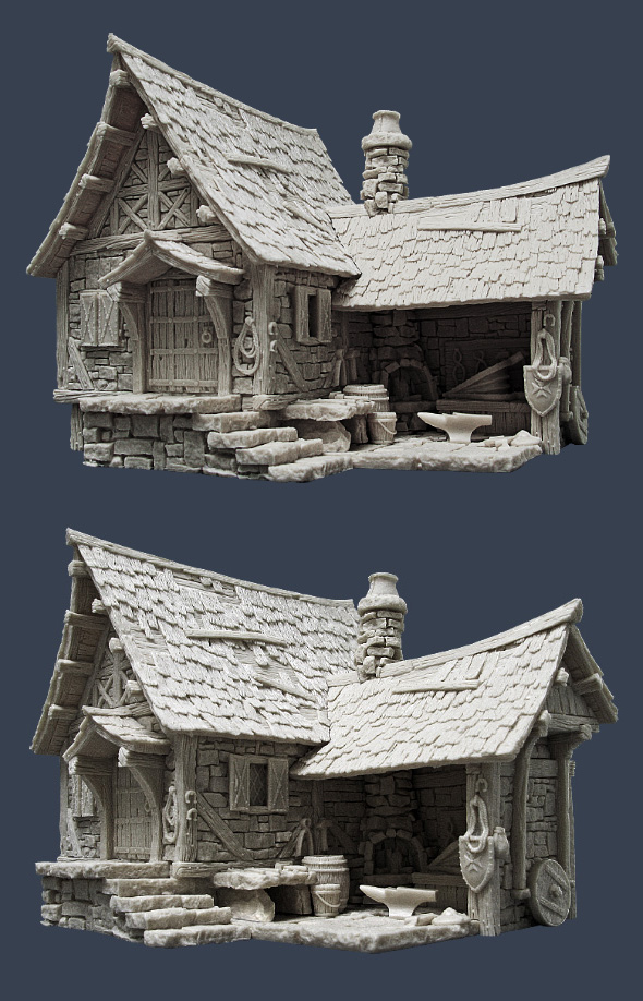 Coolminiornot Tabletop World Blacksmith Forge By
