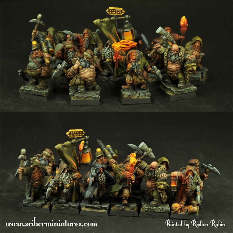 Dwarves Miners set