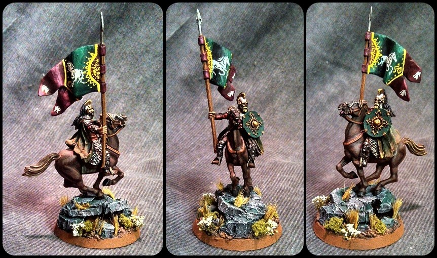 Mounted Rohan Royal Gaurd with Banner 2