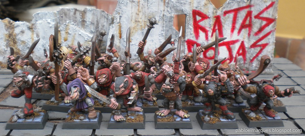 Mordheim Skaven warband 'Red Rats'