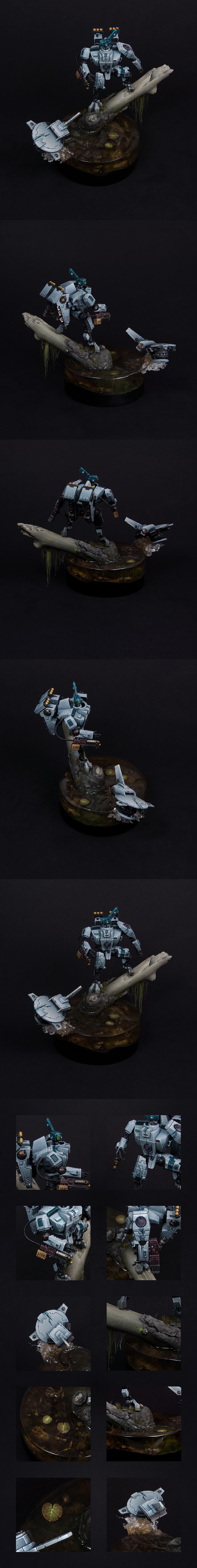 Tau XV8-11b Polypheme Crisis Battlesuit.