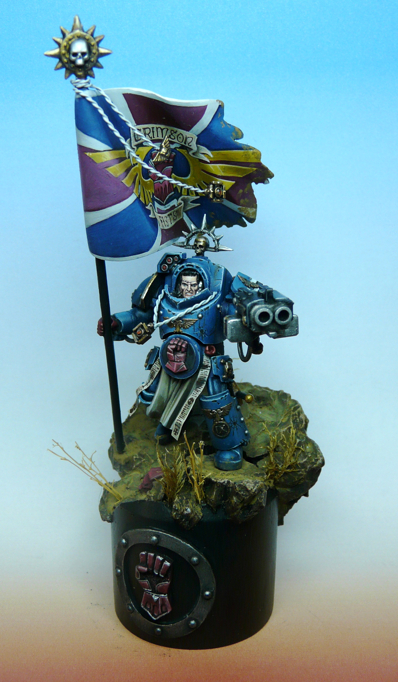 Crimson Fist standard bearer