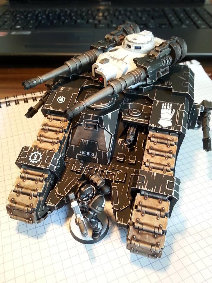coolminiornot iron hands sicaran battle tank by 7even
