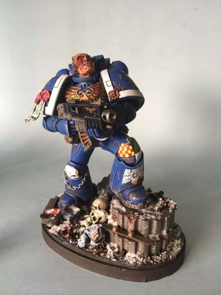 CoolMiniOrNot - Forgeworld large scale space marine by silver-fox