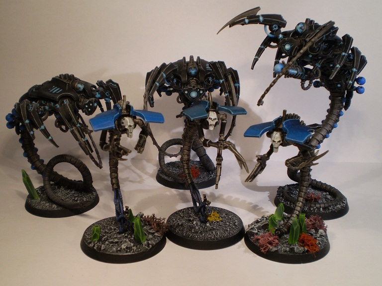 Old necron wraiths and new canoptek wraiths together