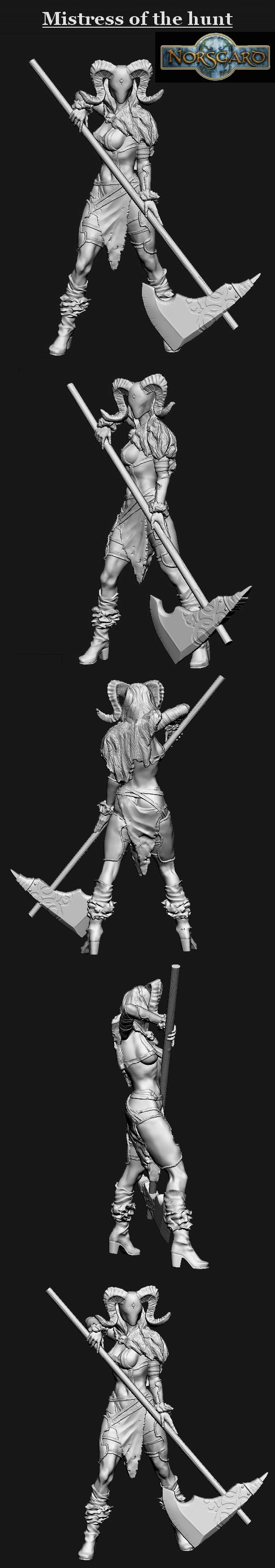 Mistress of the hunt (Zbrush digital sculpt)