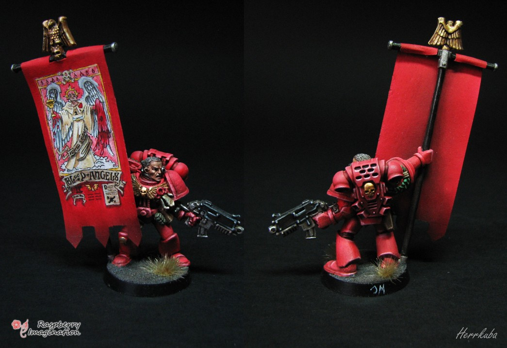 Blood Angel soldier with banner