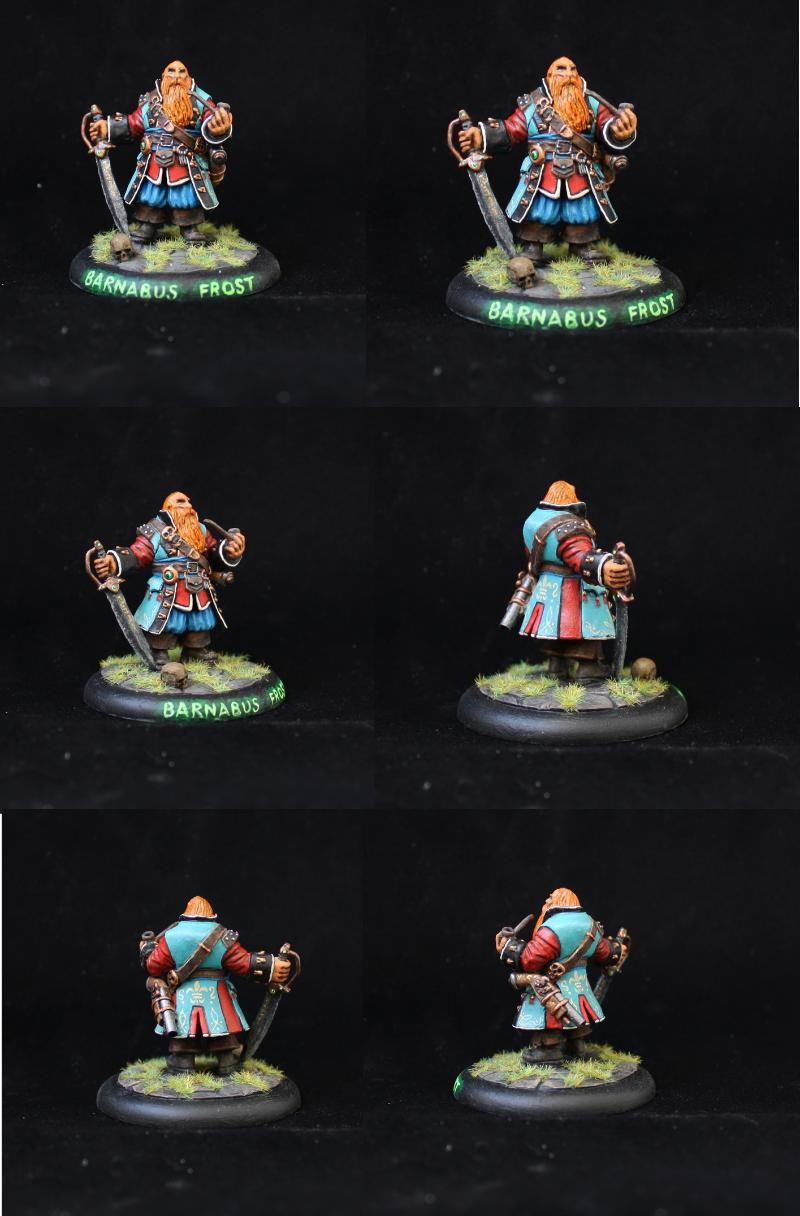 Barnabus Frost, Pirate Captain. Reaper miniatures (2014)