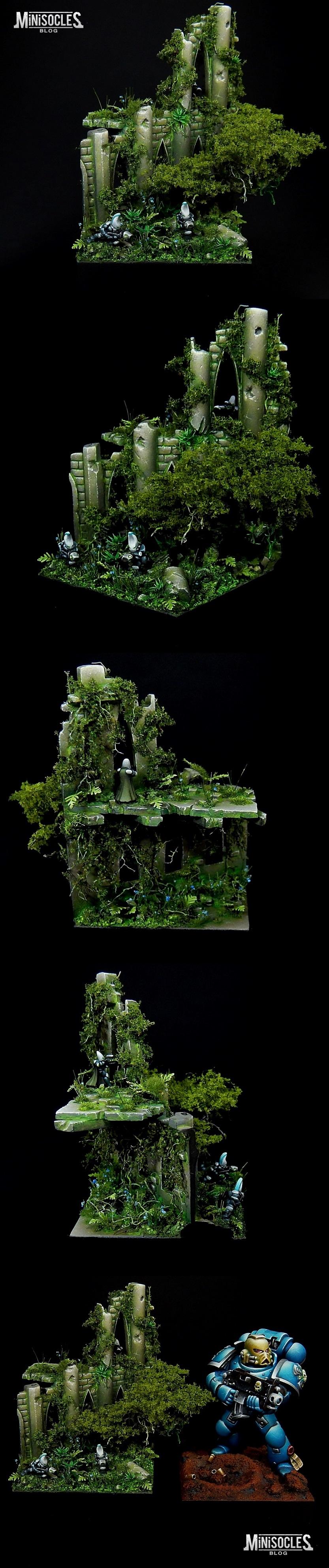 Epic scale (6mm) Eldar diorama : the base