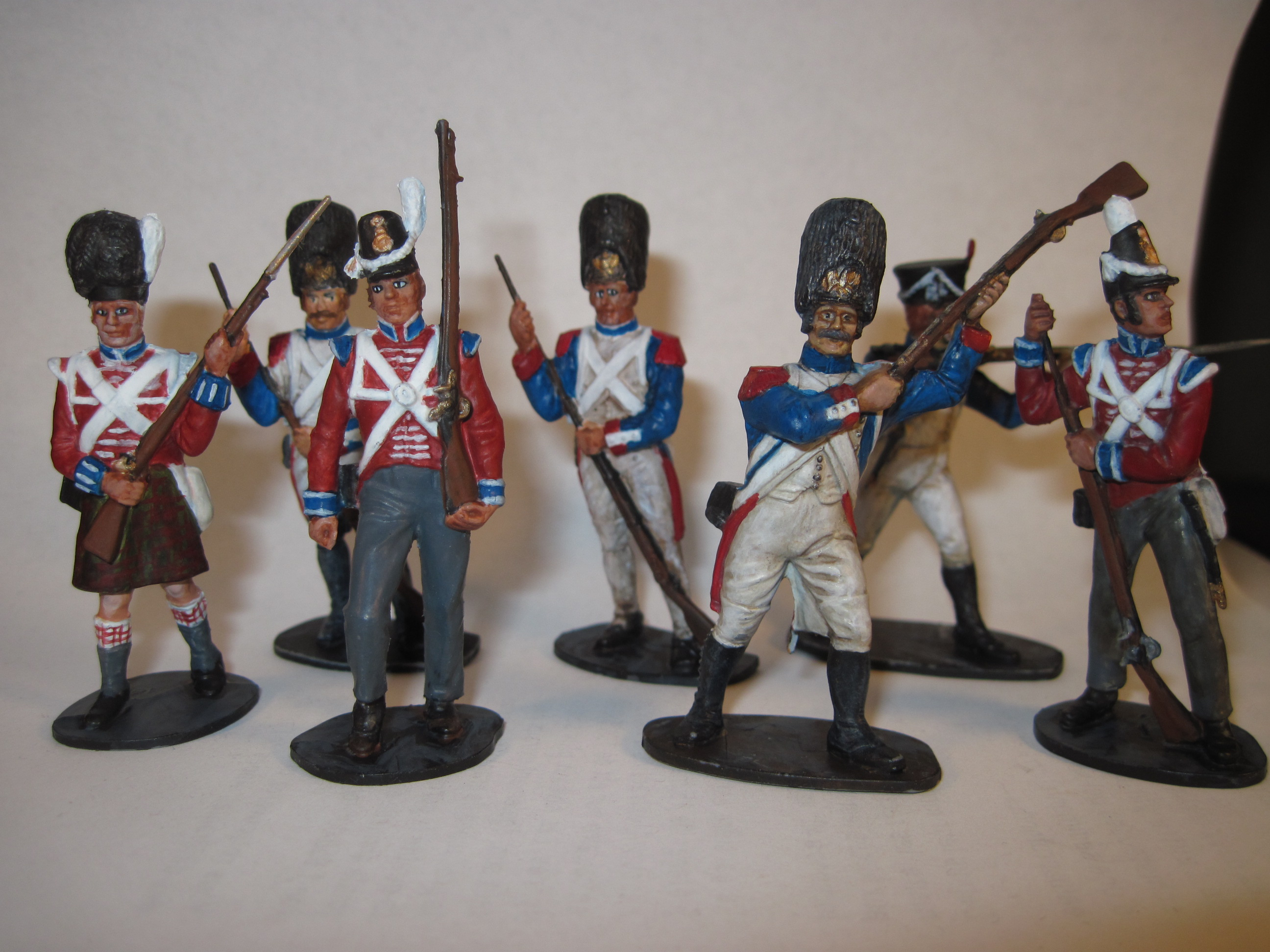 French and British Waterloo soldiers 1815