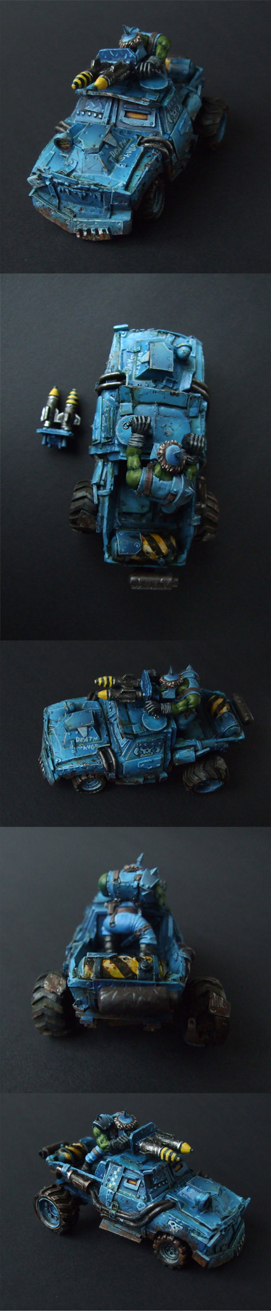 war buggy fighter truck Orc ork vechicle unique painted