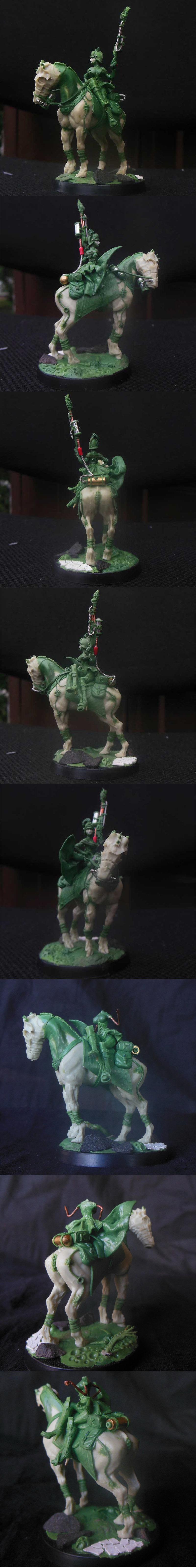 28mm DKK Mounted Female Commissar WIP