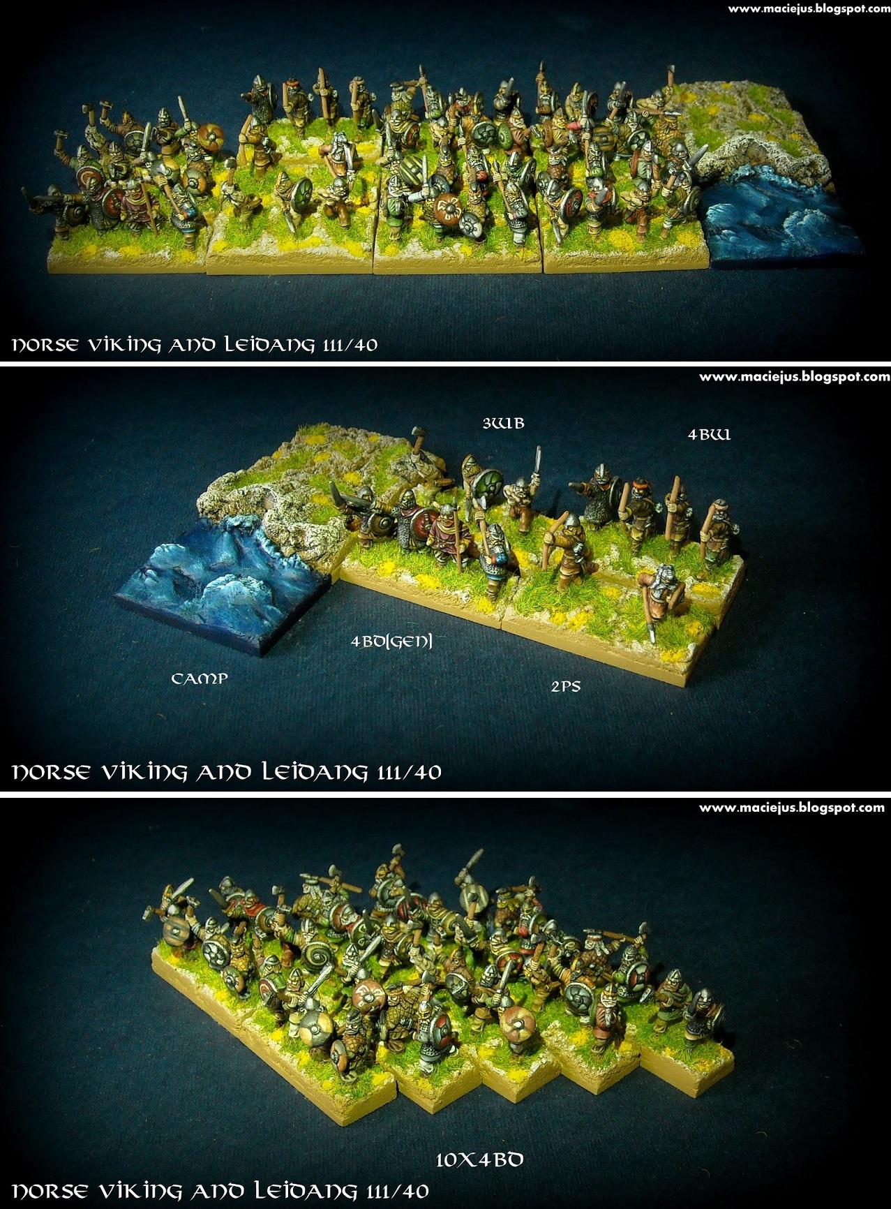 Norse Viking and Leidang III/40 DBA army