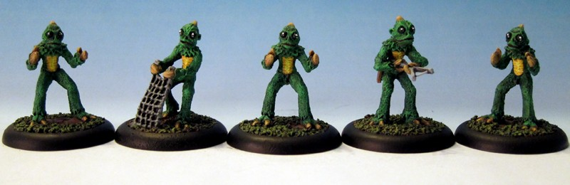 Sleestaks - Hissing Lizards from Interloper Miniatures