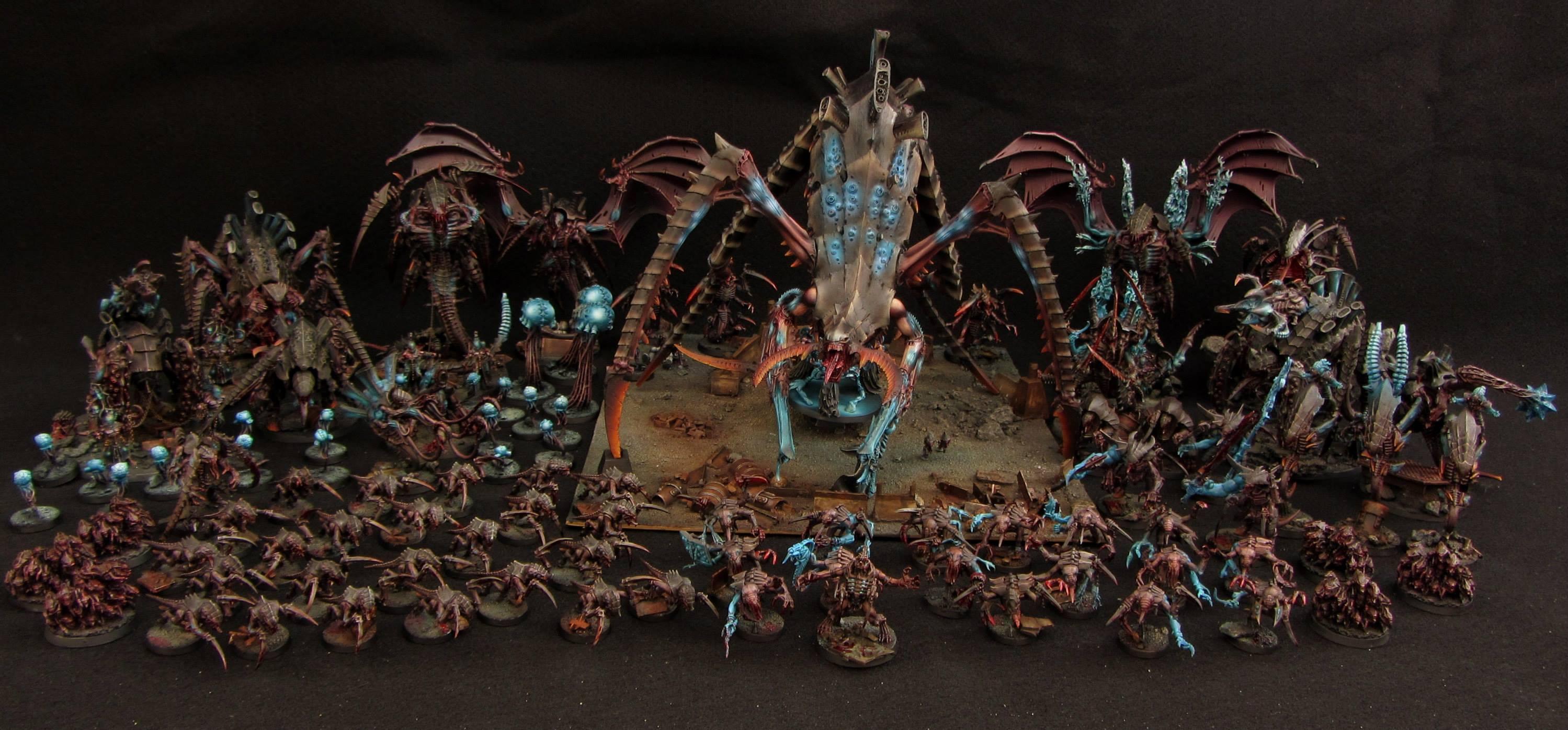Tyranid army (with Hierophant biotytan)