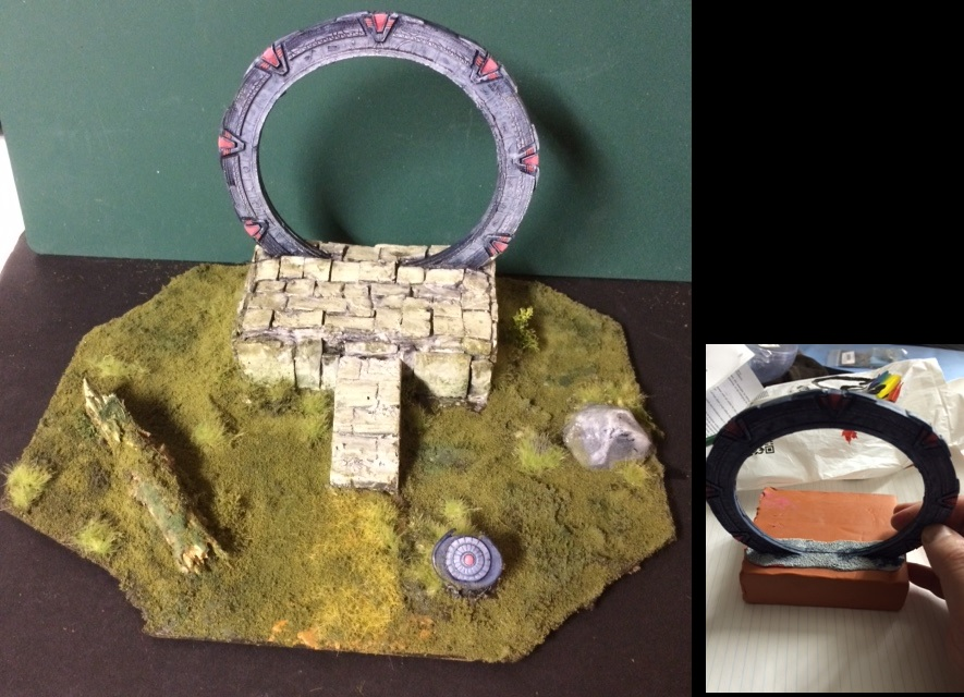 Stargate SG-1  gate and dial home device (DHD) for 25/28mm