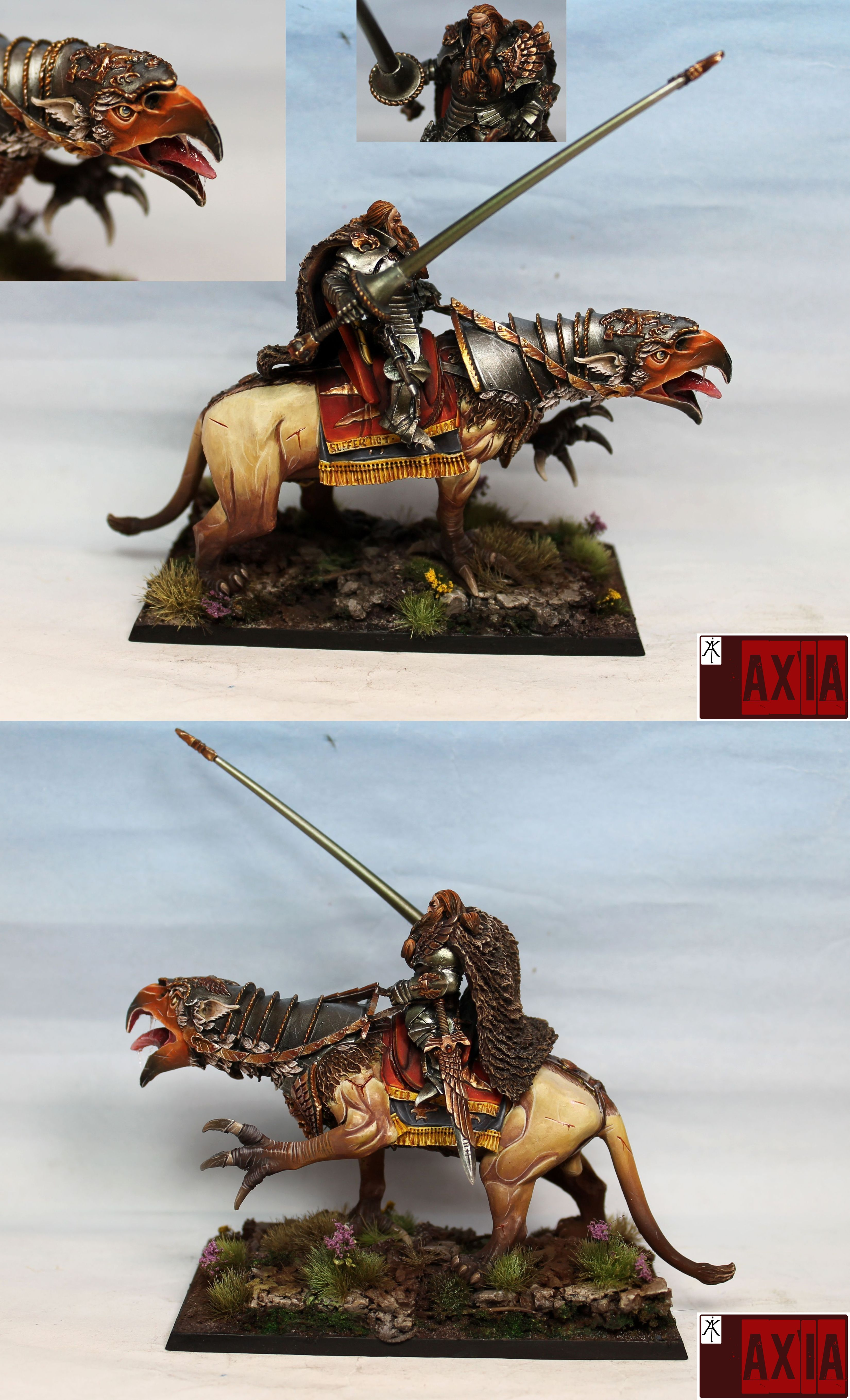 Empire general on demigryph by Forgeworld
