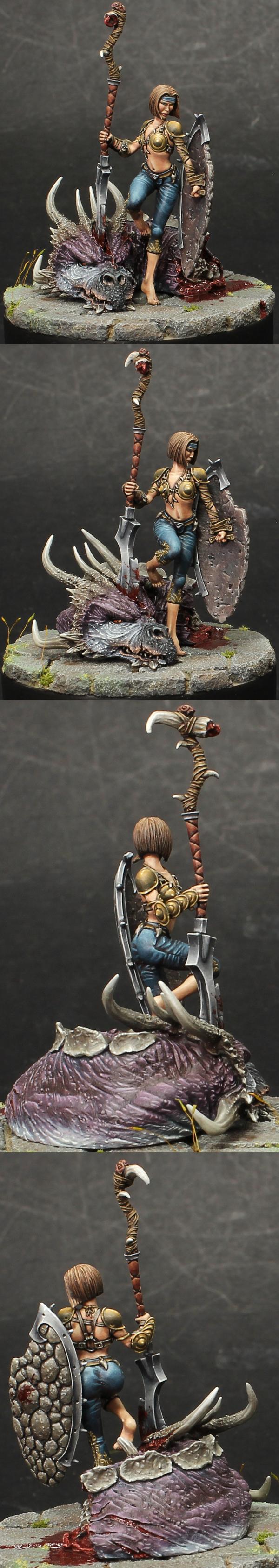 Joek miniatures Dragon Huntress