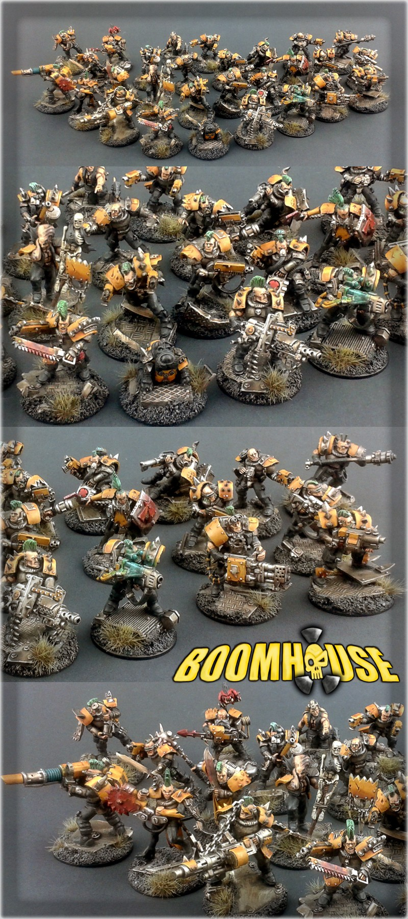 Scar_hand Painting - Necromunda Goliath Boomhouse Gang by Nazroth