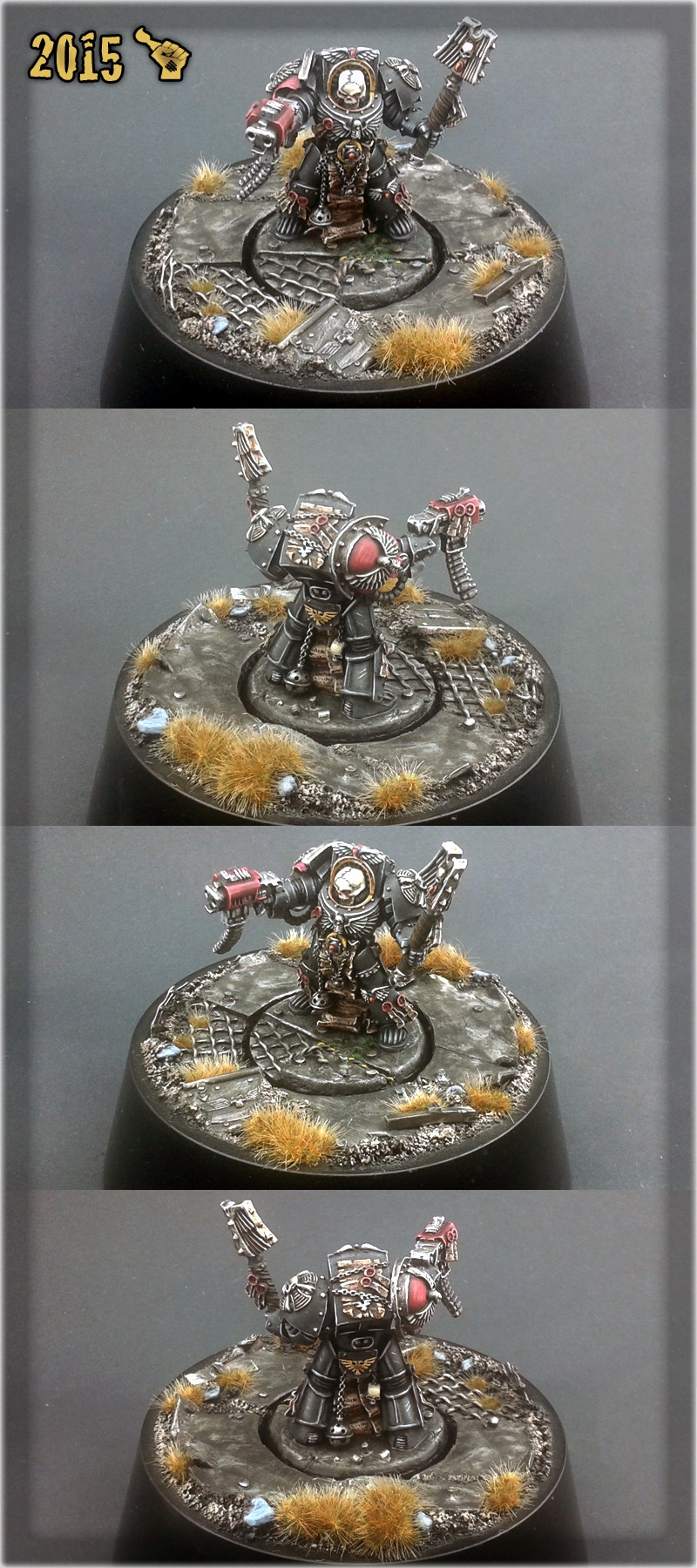 Scar_hand Painting - Space Marines Terminator Chaplain by Nazroth