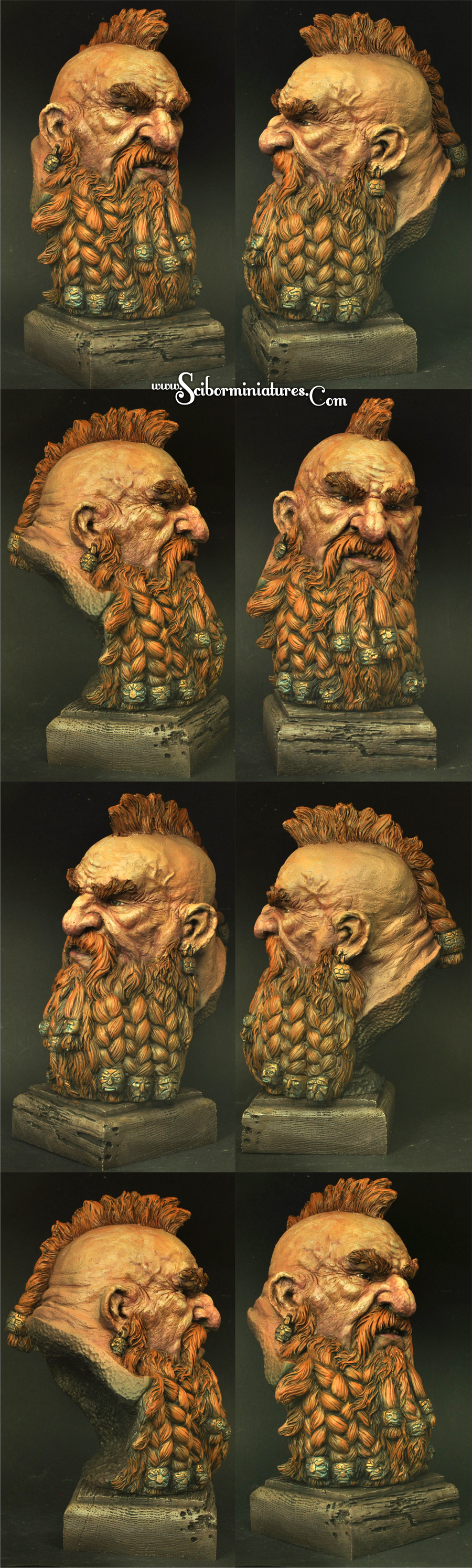 Dwarf Bust height 185mm