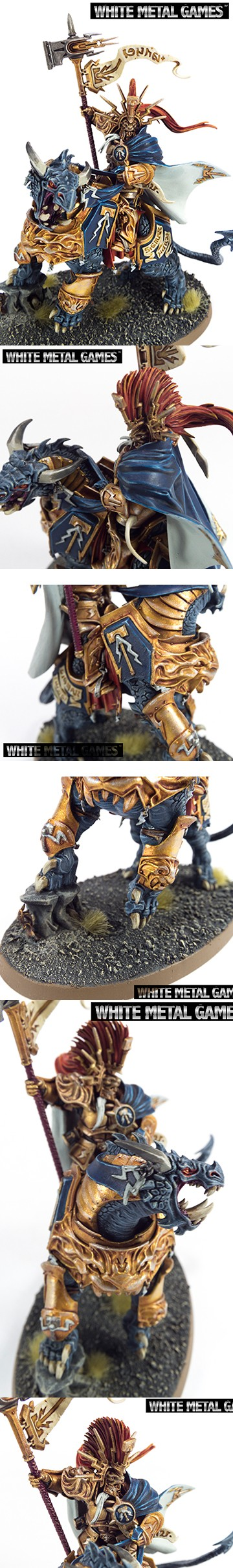 Lord Celestant on Dracoth Painted by White Metal Games
