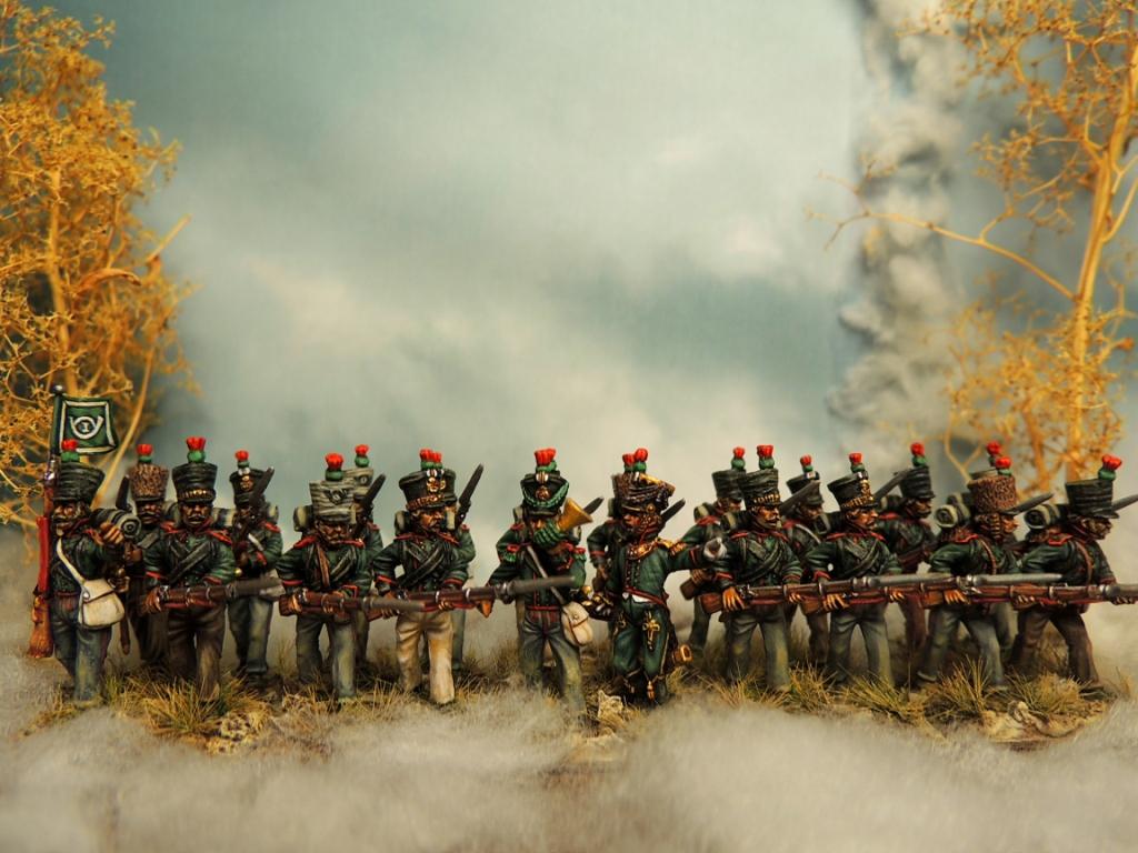 28 mm Saxon light infantry