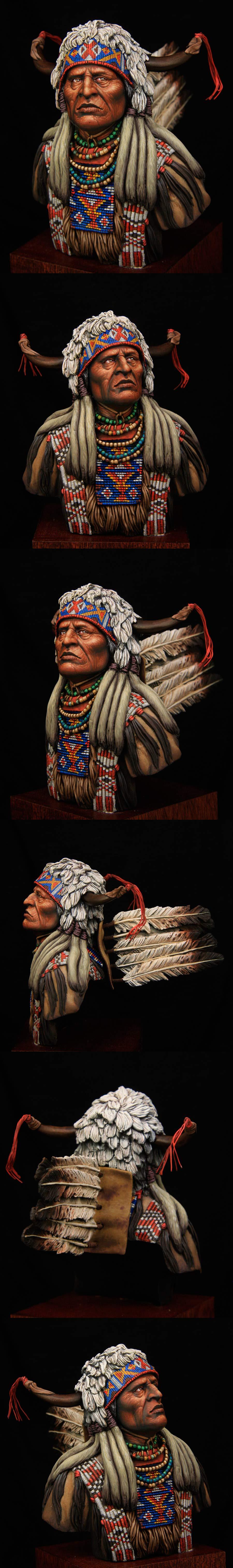 Plain indian 1\9 bust boxart for Tartar miniatures