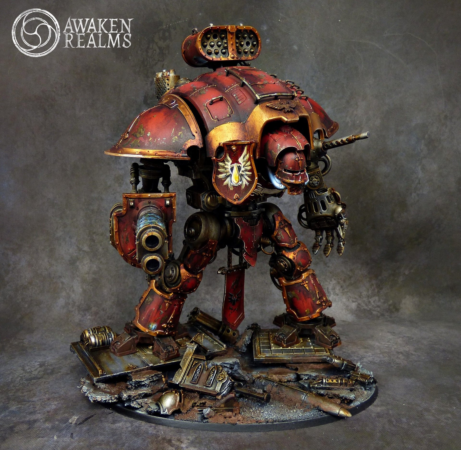 Warhammer 40k Blood Angels: Blood Angels Imperial Knight By Awaken Realms