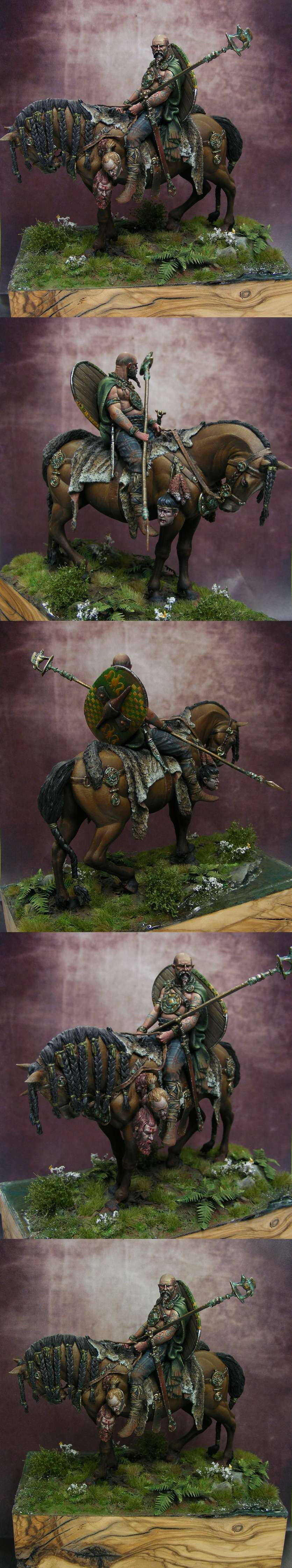 Celtic warrior on horse