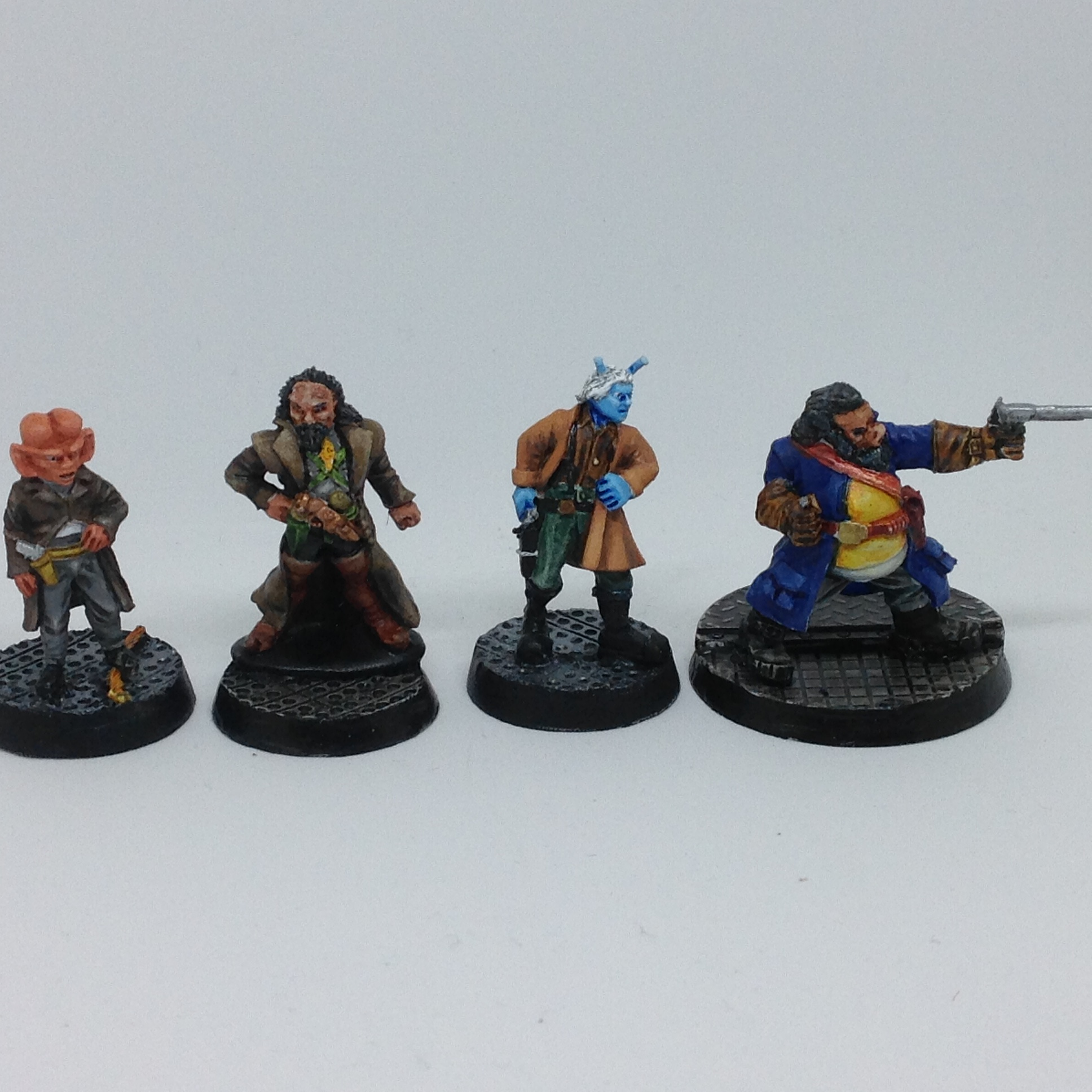 Star Trek 28mm Scumbags Ferengi Hired Gun, Klingon Pirate, Andorian Smuggler and Tellerite Bounty Hu