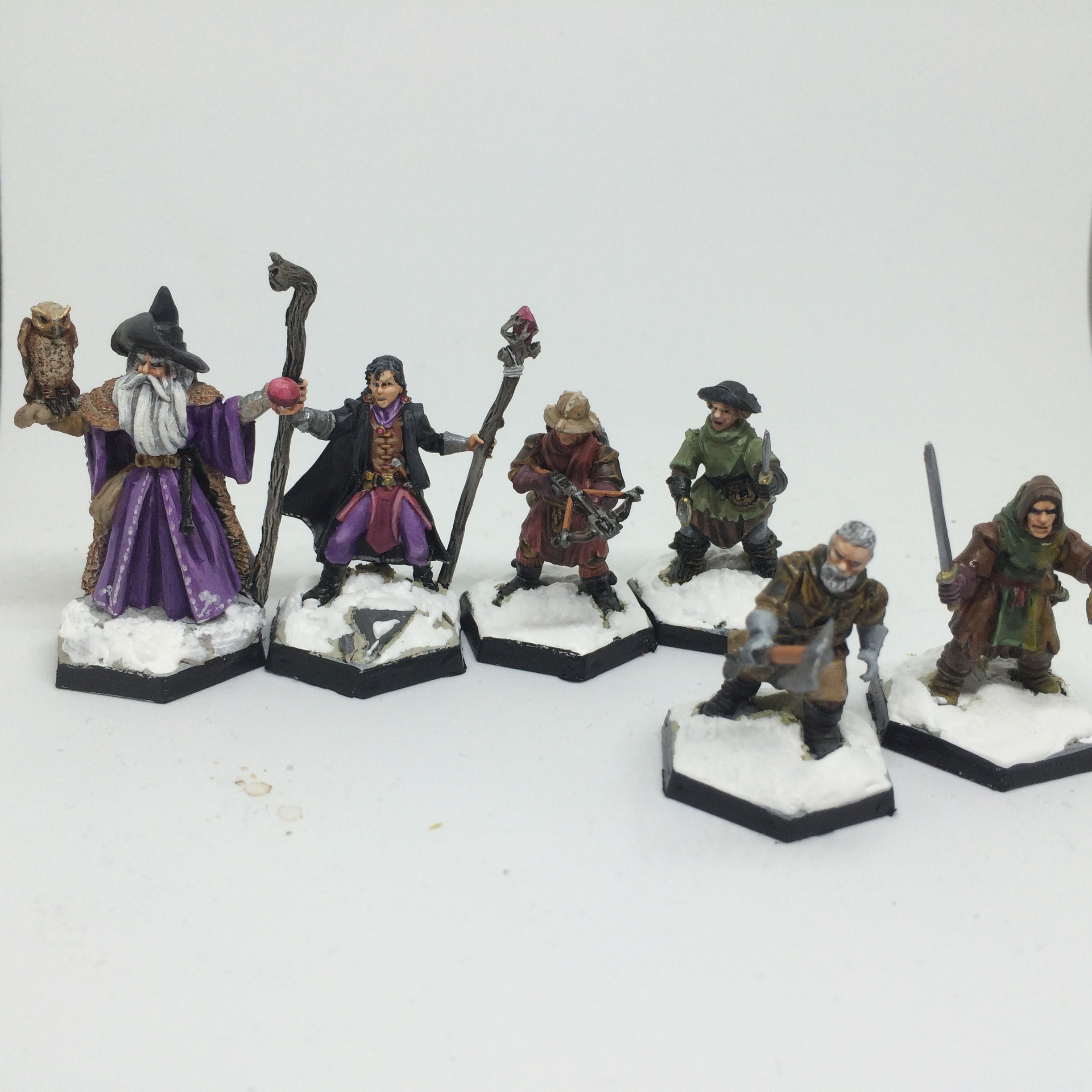 Frostgrave warband (Wizard, Apprentice and soldiers)