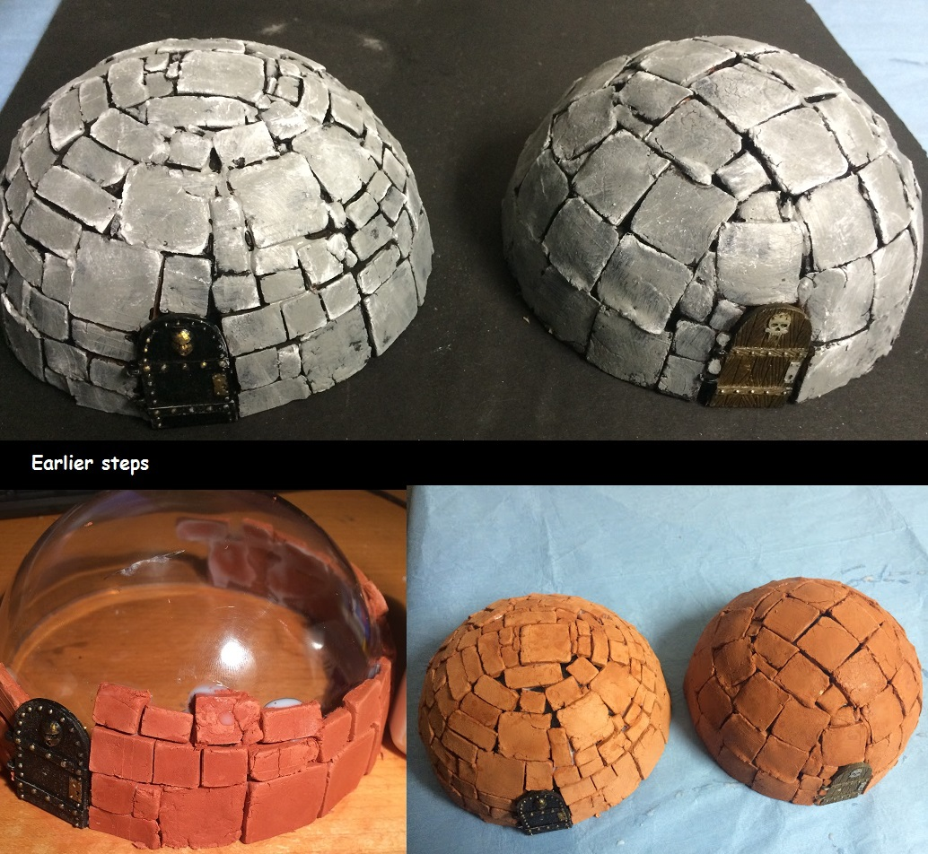 Scratch-built fantasy domed buildings