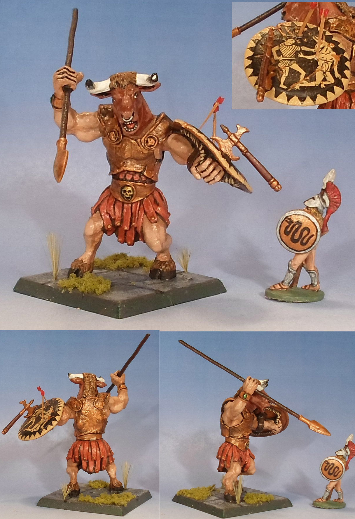 CoolMiniOrNot - Minotaur with Spear and Shield by Hawthorn67