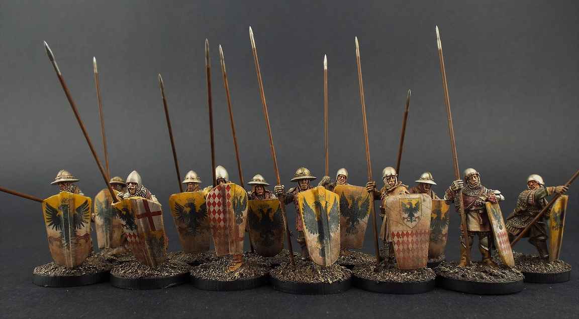 28mm Claymore Castings ~ French Paviser's ~