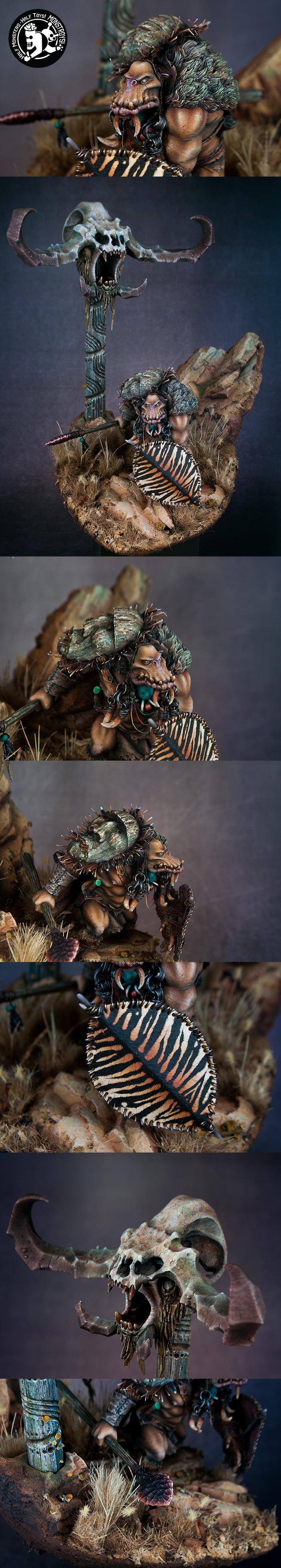 Tribal Orc diorama