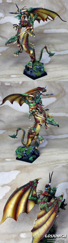Wood elf on dragon