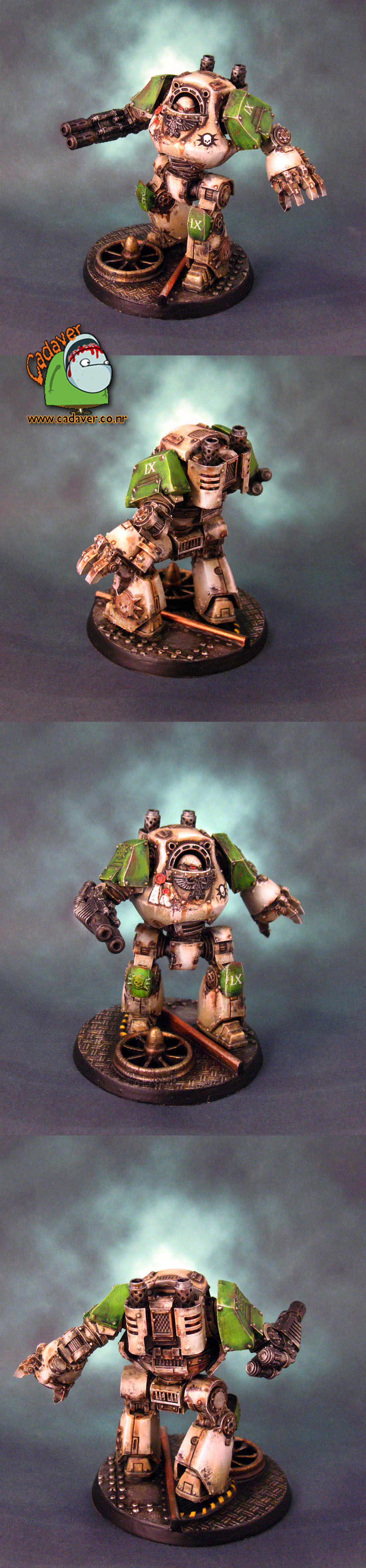 Space Marines Death Guard Contemptor Dreadnought
