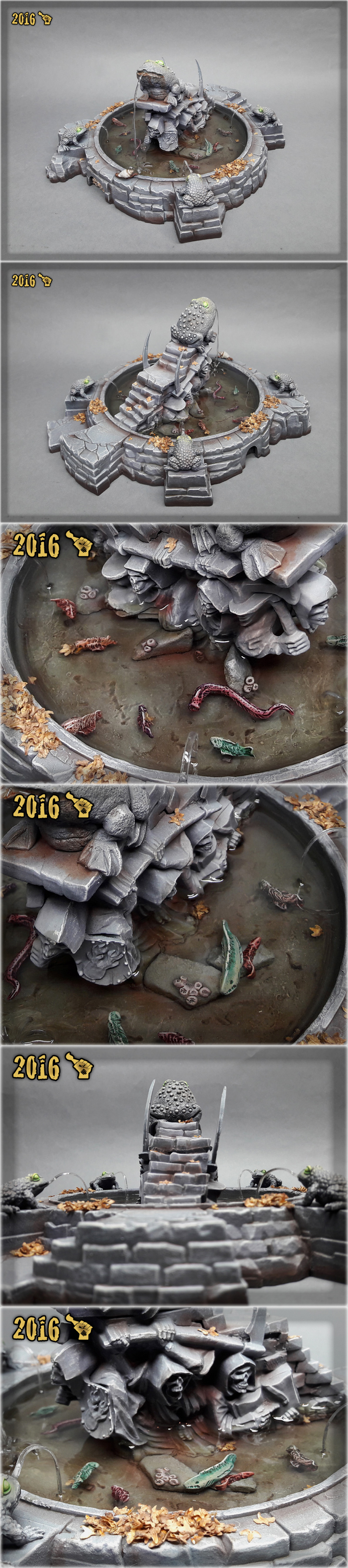 Scar_hand Painting - Mordheim Toad Fountain by Nazroth