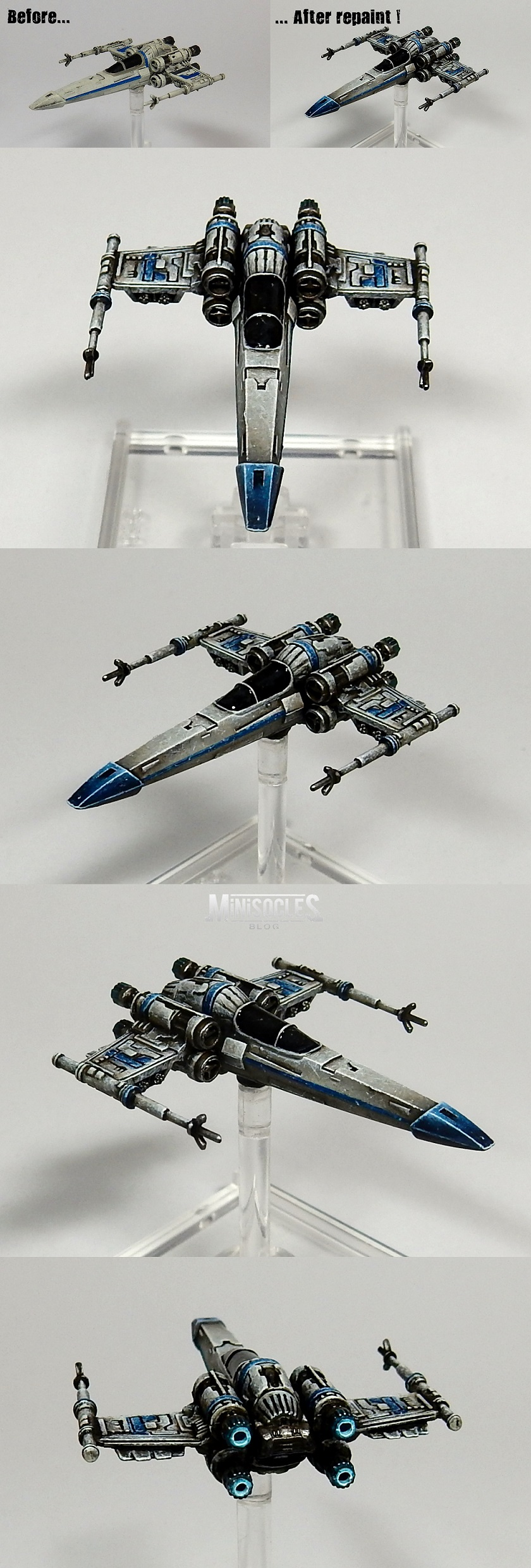 Repaint of a Z95 Headhunter for X-Wing