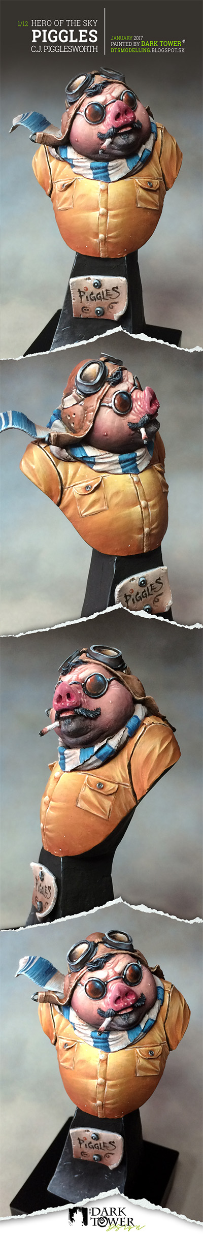 PIGGLES - C.J. Pigglesworth (Ben Komets Miniatures)