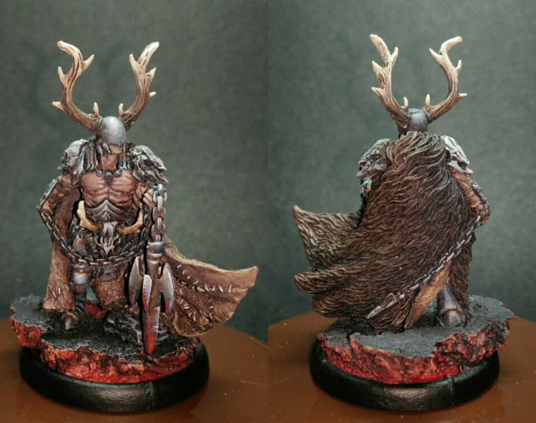 Mierce miniature. YSIAN. Hedroc of Carn Maen, Battle-Drune on Foot.