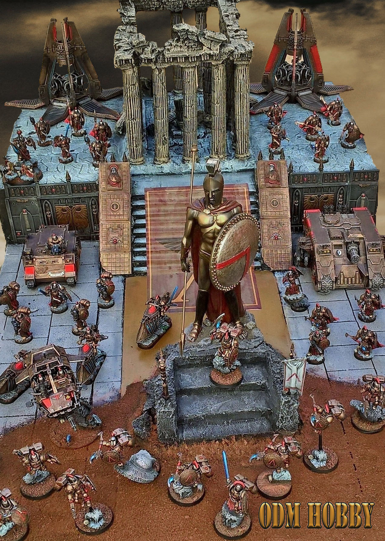 Sons of Sparta-Space marines chapter-odmhobby-diorama