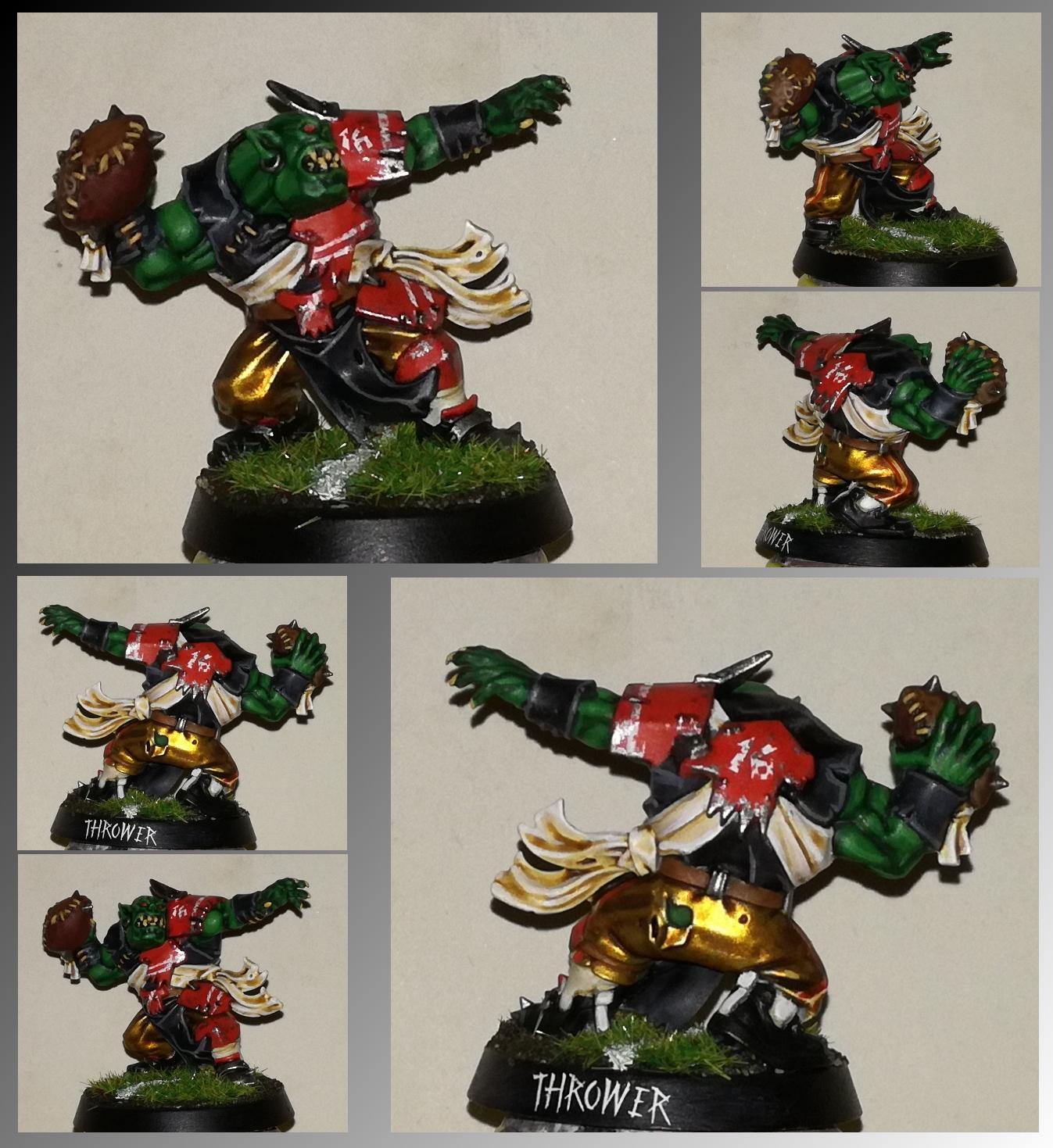 Blood Bowl Ork Thrower