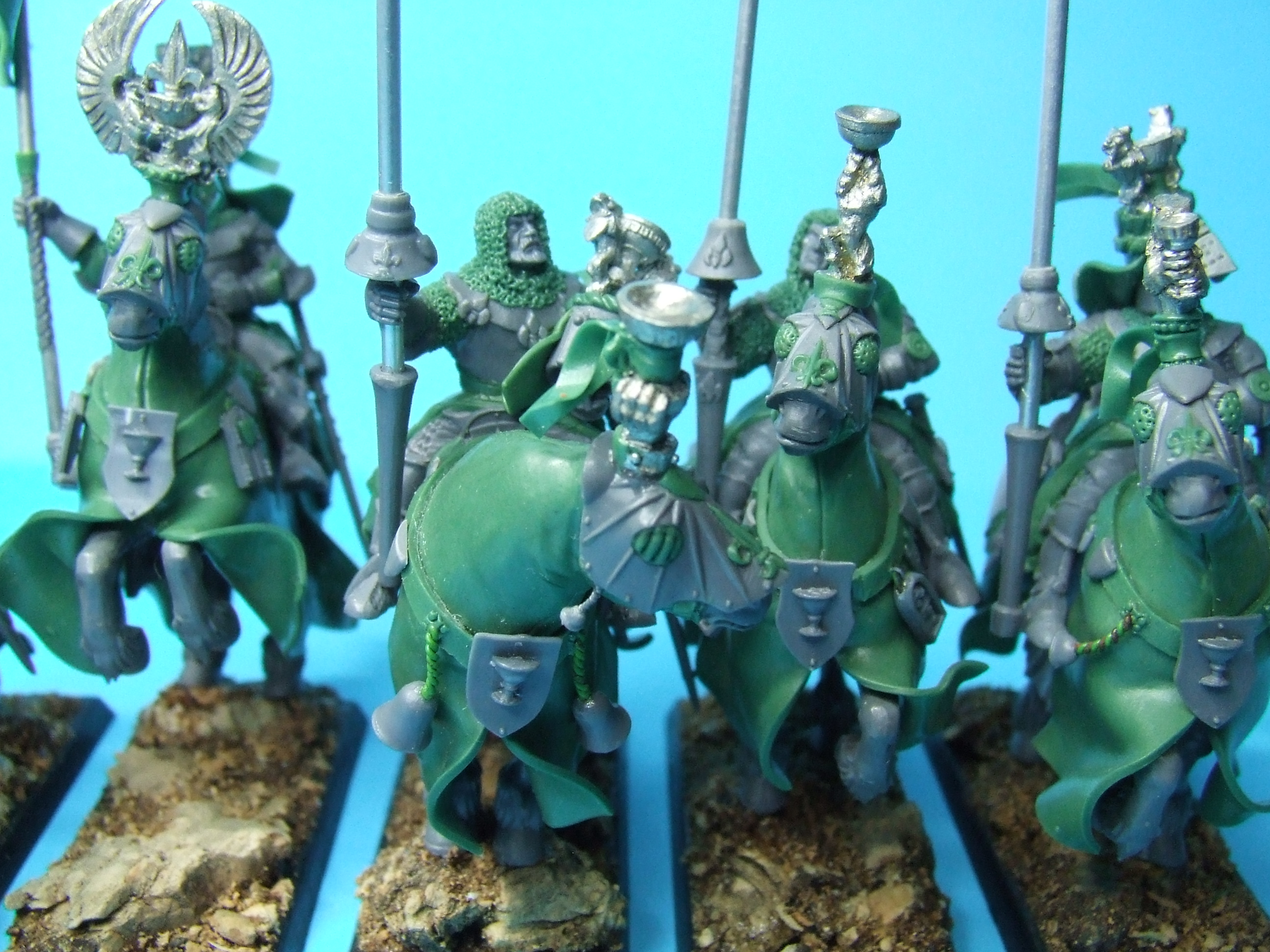 Grail Knights of Bretonnia - (converted) some more details