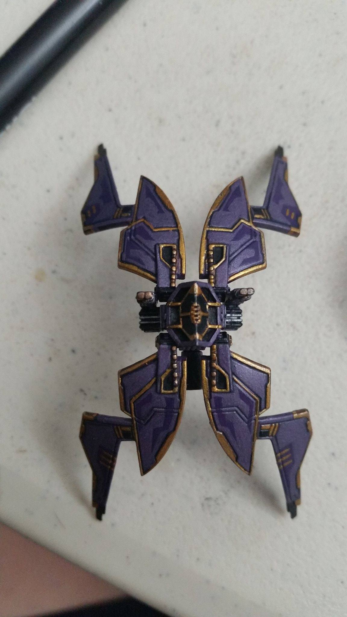 Starviper Repaint Purple and Gold (X-wing Miniatures)
