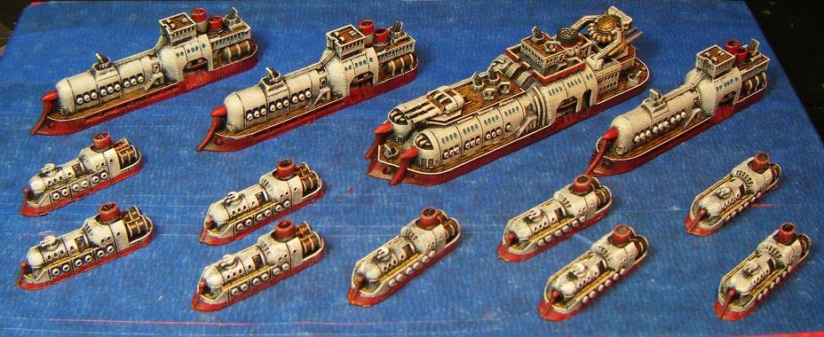 Dystopian Wars Blazing Naval Battle Group Starter Box (1st Ed)