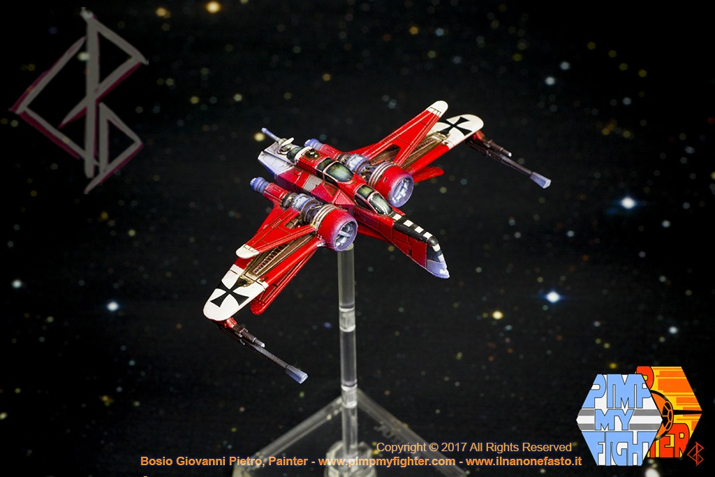 PIMPMYFIGHTER: ARC 170 - Red Baron ace custom - FFG X-Wing repaint